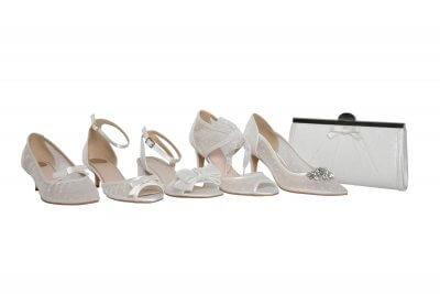 polka dot bridal shoes