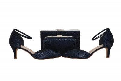 sorrel navy crystal box clutch