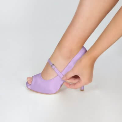 narrow instep strap dyed lavender